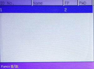 User List of K21 fingerprint biometric attendance
