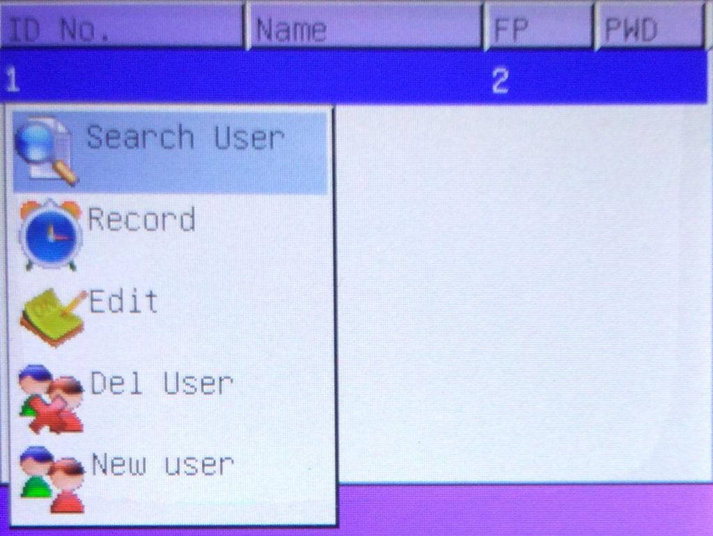 Function List of K21 fingerprint biometric attendance